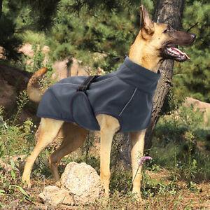 Reflective Waterproof Dog Coat Winter Warm Windproof Large Dog Jacket Vest Gray