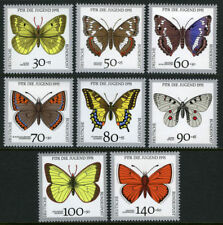 BUTTERFLIES**Germany-8stamps-1991-Welfare Fund-PAPILLONS-VLINDERS-MARIPOSAS-MNH