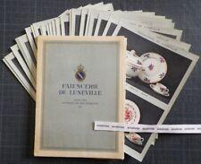 Rare Catalogue FAÏENCERIE DE LUNEVILLE (1925) Céramique ART DECO K&G Draeger coq
