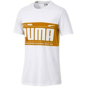 Puma Mens White Running Fitness Workout T-Shirt Athletic M  0169