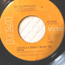 """Elvis Presley –I Really Don't Want To Know/There Goes My Everything-Vinyl, 7""""-"""