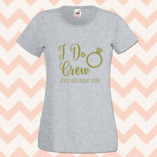I do Crew Hen T Shirts Hen Do Party Personalised T-shirt Ladies Tops Gold Print
