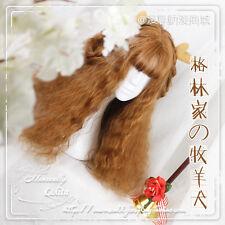 Dolly Lolita Harujuku Sweet Daily Cosplay Long Princess Wig Brown Curly Hair New