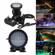 36 LED Submersible Underwater Spot Light for Garden Pond Pool Fish Tank IP68
