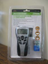 New! Pittsburgh Ultrasonic Distance Meter with Laser Pointer 67802