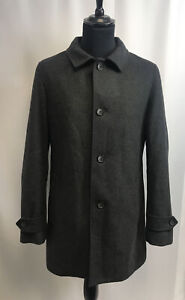 Marks and Spencer Men's Grey Coat With Wool Size L