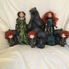 DISNEY Store Brave bambole Bundle trasformando regina Elinor Merida TERZINE Bears