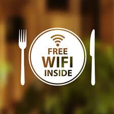 Wifi gratuit à l'intérieur plaque fenêtre signe vinyle autocollant cafe shop salon restaurant