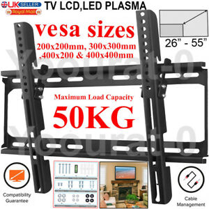 TV WALL BRACKET MOUNT FIXED FOR 26 30 32 40 42 50 55 INCH 3D LCD LED PLASMA