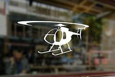 25cm Helicopter MD 500T Bell Vinyl Stickers Decals Car Auto Laptop Glass