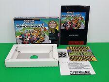Super Nintendo SNES Super Mario Kart Box & Manual & Booklets Only