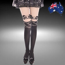 Panda Print Knee High Socks Cat Tatto Tights Pantyhose Stockings CSOCK0114