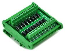 DIN Rail Mount3 Amp 1000V Common Cathode 16 Diode Network Module, 1N5408.