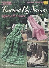 TOUCHED BY NATURE AFGHANS TO CROCHET ~ 3 Designs ~ Leisure Arts #1338