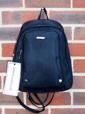 NEW LADIES BLACK POLYESTER  SOFT CASUAL  BACKPACK RUCKSACK DAYPACK