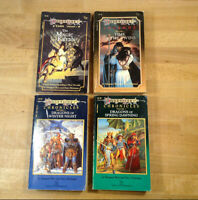 Lot of 4 Vintage Dragonlance paperbacks, Chronicles, Legends, Tales, ALL 1st/1st