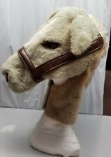 Fake fur horsehead mascot style Halloween custom