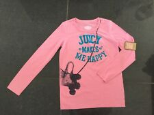 NWT Juicy Couture New & Genuine Girls Age 10 Pink Cotton Long Sleeved T-Shirt