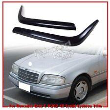 2000 Fit For Mercedes Benz C W202 4D Headlight Eyelid Eyebrow Trim Cover Unpaint