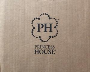 "3612 Princess House Princess Moderna Ruby Pedestal Glasses Set of 2 7 1/4""H"