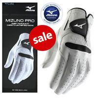 Mizuno Pro Leather Golf Glove Men's White/Black - NEW! (2019 MODEL)