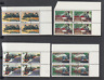 1979 TRAINS set of 4 blocks of 4, Fine Used