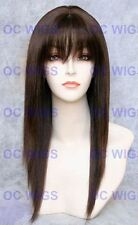 USJF10265 vogue dark brown long straight natural hair wig wigs for women