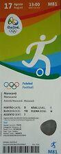 mint TICKET 17.8.2016 Olympic Fußball Men's Brasilien - Honduras # M81