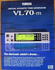 Original Yamaha Farb Prospekt für VL70-m Virtual Acoustic, Printed in Japan