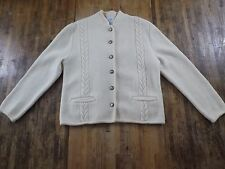 NORTHERN ISLES 100% Wool Buttonfront Sweater Womens Size 14