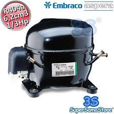 3S MOTORE Compressore FRIGO R404A R507 1/3 Hp 6,2 cm3 Embraco Aspera NEK6165GK