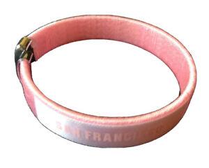 NFL San Francisco 49ers Wrist Band Bracelet Offical Licensed (pink color)