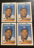 Gary Sheffield RC Future Star Lot(4) 1989 Topps #343 Brewers Braves Marlins