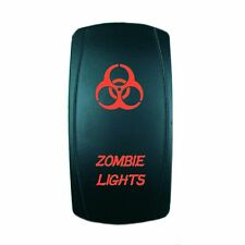 Polaris RZR RED ROCKER SWITCH LASER ETCHED 20A 12V ZOMBIE LIGHTS