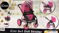 hauck ICOO 3 in 1 Doll Stroller Pram for Kids Toys