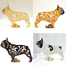 French Bulldog figurine, dog statue made of wood (MDF), hand-painted