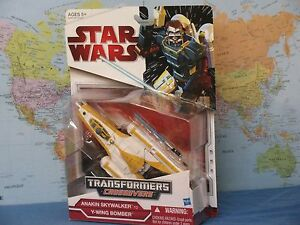 STAR WARS TRANSFORMERS CROSSOVERS ANAKIN SKYWALKER TO Y-WING BOMBER *BRAND NEW*