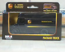 ups Package Truck With Pull Back Action Scale 1/43
