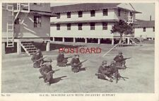 """1943 Pvt Dave Shansky Co """"B"""" Fort Dix - 30-CAL MACHINE GUN WITH INFANTRY SUPPORT"""