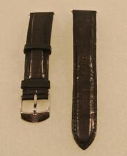 Michele 18MM BLACK Watch Band Strap Genuine Alligator Skin