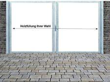 Einfahrtstor Qs Tor Verzinkt mit Pfosten Ohne Holzfüllung 2-flügelig 300x160cm