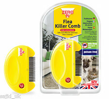 Zero In Flea Killer Comb - Ideal for Dogs and Cats - FREE P&P