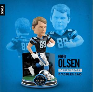 "GREG OLSEN Carolina Panthers NFL ""Career Accomplishments"" Bobblehead #/288 NIB!"