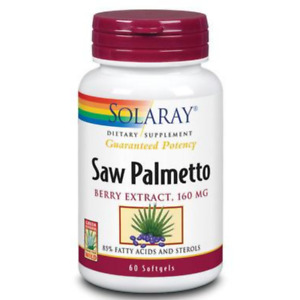 Solaray Guaranteed Potency Saw Palmetto Berry Extract, Softgel (Btl-Plastic)