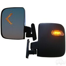 Golf Cart LED Side Mirrors with Turn Signal Universal Fit Club Car EZGO Yamaha