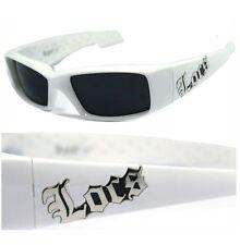 Locs Men Cholo OC Style Motorcycle Biker Shade Sunglasses - White LC66