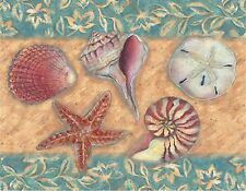 SEASHELL STARFISH   MOUSE PAD  IMAGE FABRIC TOP RUBBER BACKED