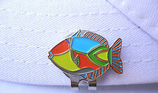 Tropical Fish Golf Ball Marker - W/Bonus Magnetic Hat Clip