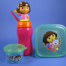 DORA THE EXPLORER 3D TOP water juice Drink cup Tumbler w/ Straw, SNACK CONTAINER