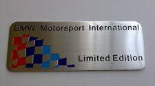 Emblema BMW M Edicion Limitada (e31,e34,e46,e90,e92,e57,e87,e39,320,318,x3)badge